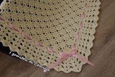 Fantastico Super Crochet blanket with openwork and border with fans: Camilla's tutorials Crochet Bebe, Free Crochet, Crochet Top, Baby Patterns, Crochet Patterns, Manta Crochet, Baby Blanket Crochet, Crochet Blankets, Baby Knitting