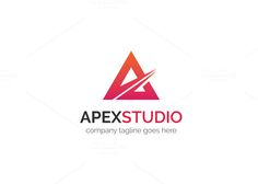 Apex Studio Logo by XpertgraphicD on Creative Market Brochure Inspiration, Website Design Inspiration, Design Ideas, Logo Design Template, Logo Templates, Letter Form, Star Logo, Font Names, Studio Logo