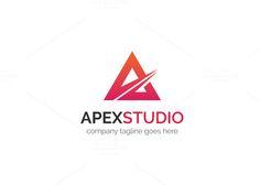Apex Studio Logo by XpertgraphicD on Creative Market Logo Design Template, Logo Templates, Website Design Inspiration, Design Ideas, Letter Form, Font Names, Studio Logo, Pattern Illustration, Modern Logo
