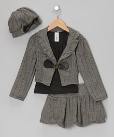Take a look at this Gray Jacket Set - Girls by Just Kids on #zulily today!