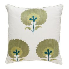 Green Carnation Suzani Pillow