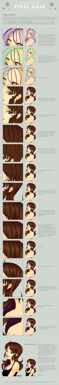 The Shou's Way To Pixel Hair by ShouriMajo