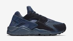 3745acc27a1e15 Nike Air Huarache Premium Metallic Armory Navy Sneaker Bar