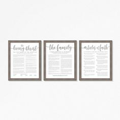 A beautiful way to display these LDS documents in your home. Also makes a great wedding or Christmas gift.