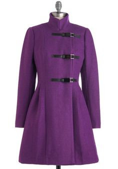 Plenty by Tracy Reese Plum Becomes You Coat, #ModCloth LOVE this coat - WANT!!!! Xmas present anyone? =P