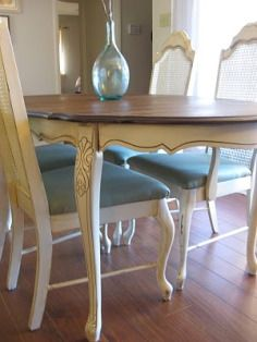 dining table makeover inspiration photos - Distressed Dining Table
