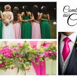Casamento com decoração Rosa e Verde