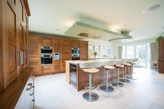 Bespoke cupboards to the left provide additional storage