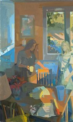 Susan Lichtman, Sisters, 66 × 45 inches, oil on canvas, 2014 (courtesy of the artist)