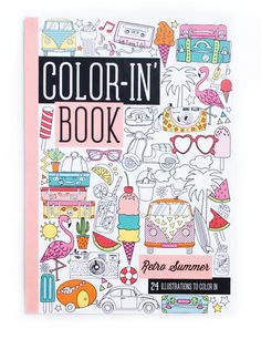 Keep Your Summers Cool And Winters Warm Wherever You Are With The Retro Summer Travel Size Color In Book This Small Sized Coloring Features 24