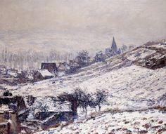L'Hiver à Giverny (C Monet - W 961),1885.