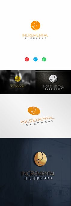 incremental elephant logo design v.01