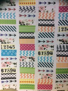 Planner stickers, washi tape stickers, labels, Erin condren,  handmade stickers, washi tape, agenda, large assortment, calendar stickers by Thriftytogifty on Etsy