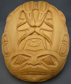 """The MOA Shop: """"Yellow Cedar Dogfish Carving"""" by Haida artist Clayton Gladstone."""