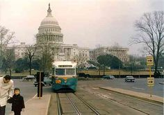 DC Transit  #1101 on Pennsylvania Avenue, just west of Peace Monument Loop.