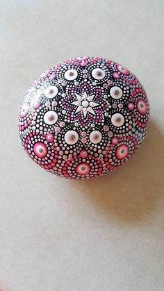 Mandala rockhandmade painted rocksacrylicpaintingstone