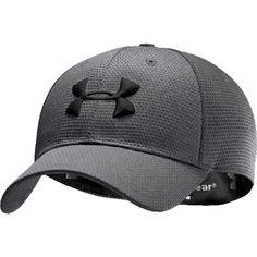 Under Armour Blitzing Stretch Fit Cap - Men's UA HeatGear PolyMesh Baseball Hat