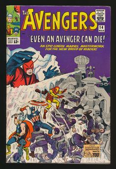 Avengers #14(Mar. 1965), cover by Jack Kirby