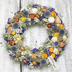 Blue&orange wreath, natur decoration