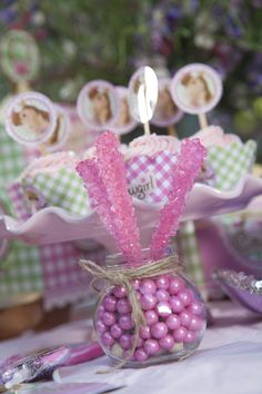 Pink Cowgirl Party Candy Suckers and Cupcakes #Party #BirthdayExpress