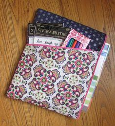 Pochette de Erin Condren Planner / casse (et prune papier Planner, planificateur heureux MAMBI, encrier Planner), rose et vert Floral, argent ronds marine