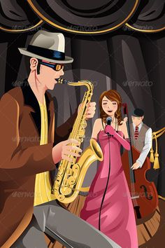 Jazz Music Band - People Characters