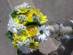 Bridal Bouquet - Daisies and roses