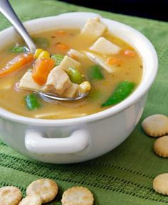 New recipes soup healthy weight loss Ideas Healthy Soup Recipes, New Recipes, Cooking Recipes, Sopas Fitness, Sopas Light, Turkey Vegetable Soup, Comidas Light, Light Recipes, Love Food