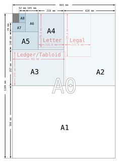 A paper size illustration with letter and legal