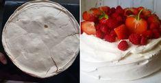 Pavlova torta s jahodami - Receptik. Pavlova, Camembert Cheese, Pie, Pudding, Recipes, Food, Mascarpone, Torte, Cake