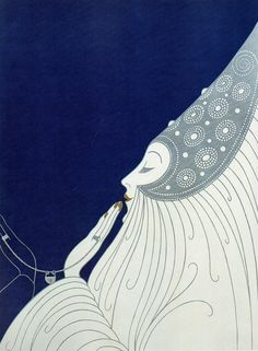 Lovely original, ERTÉ ART DECO PRINT taken from a first edition book. Published in 1988 by E. Dutton, New York This is a genuine vintage… Estilo Art Deco, Arte Art Deco, Moda Art Deco, Art Deco Print, Art Deco Design, Art Deco Illustration, Art Illustrations, Art Deco Mode, Art Deco Fashion