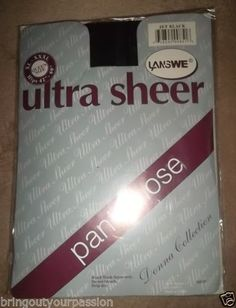 ultra-sheer-panty-hose-Queen-size-JET-BLACK-pantyhose-XL-XXXL-Hips-42-60