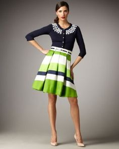 kate spade lilith striped a-line skirt | Shop fashion, apparel| Kaboodle
