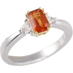 orange sapphire ring - Google Search