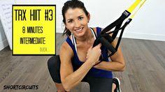 TRX HIIT #3 - 8 MINUTES OF SWEAT! KILLER ON THE LEGS! Core Strength Training, Trx Training, Pilates Studio, Pilates Reformer, Trx Full Body Workout, Trx Class, Calisthenics Workout, Trx Workout, Exercise Workouts
