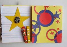 """""""Back to School Altered Mini Notebook"""" Crafting with Kids Article - image 3 - by: Dr. Irit Shalom for Scrapbooking.com August 2012 issue"""