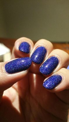 BLURPLE  Deep Purple Holographic Nail Polish by ExoticLacquers