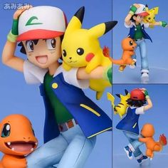 Anime Pokemon Ash Ketchum Charmander Pikachu Pokemon Toys Juguetes PVC Action Figure Pokemon Figures Brinquedos Model Kids Toys