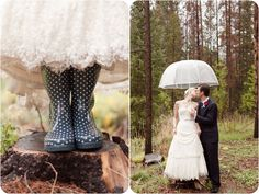 If you live in Florida, and are getting married outside, every bride needs cute rainboots and this umbrella (just in case)