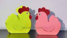 paper chickens for kids diy | Mashustic.com