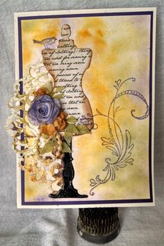 vintage sewing by lori92760 - Cards and Paper Crafts at Splitcoaststampers, rubber stamping cards