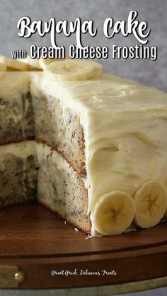Banana Bread Recipes, Easy Cake Recipes, Frosting Recipes, Best Banana Cake Recipe Moist, Homemade Banana Cake Recipe, Cake Frosting Recipe, Simple Recipes, Dessert Recipes, Banana Bread Cake