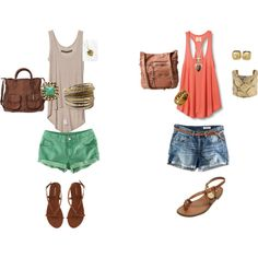 I just created my first outfits on polyvore!!!! :) yay!