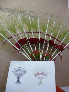 Bouquet décoratif radial et son croquis. Cap 2ème année.CFA Blagnac.(France)
