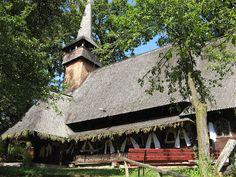 Greek-Catholic church near Hărnicești in the Maramures region of northwestern Romania