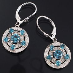 Shop 14KW 1.80ct Blue Dia Rd .45ctw Dia Round Dangle Earrings and other jewelry, art, coins, rugs and real estate at www.aantv.com