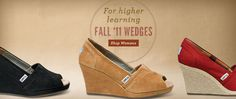 TOMS Wedges for Women. TOMS Coupons - Love these new Fall Wedges from TOMS Shoes - now I just have to decide what color to get!