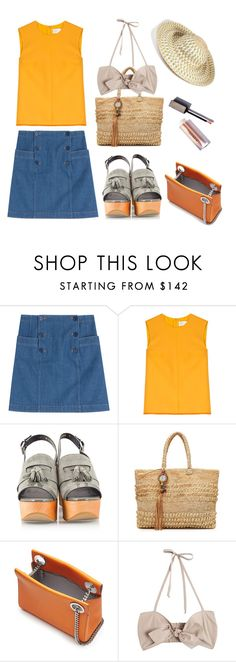 """""""Sunshine Day"""" by sue-mes ❤ liked on Polyvore featuring A.P.C., Victoria, Victoria Beckham, Robert Clergerie, Flora Bella, Jil Sander, Maryam Nassir Zadeh and Missoni Mare"""