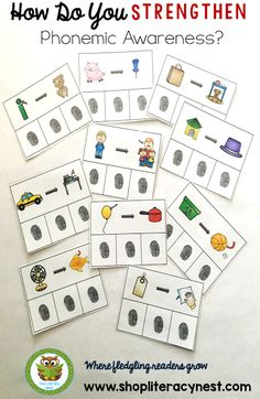 How do you strengthen Phonemic Awareness? Learn more with these phonemic awareness activities. Includes phonemic awareness freebie.