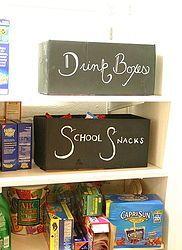 chalkboard bins